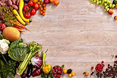 水果蔬菜组合高清背景图片