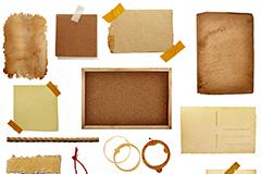 14种空白羊皮纸纸板高清图片