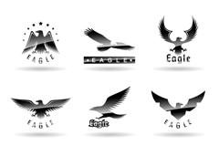 9款精致鹰标志矢量素材