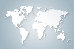 白色世界板块矢量图