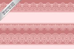 豆沙粉色蕾丝花纹背景矢量图