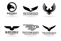 9款黑色鹰标志矢量素材