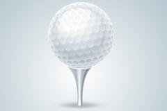 精致白色高尔夫球矢量素材