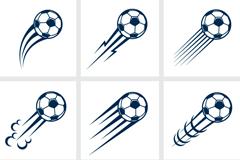 9款动感飞起的足球矢量图