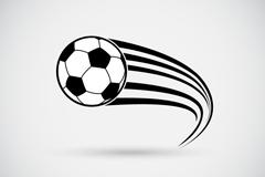 动感黑白足球矢量素材