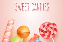 甜蜜糖果设计矢量素材