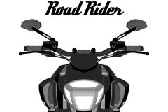 创意摩托车正面图矢量素材