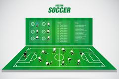 创意足球赛插画矢量素材