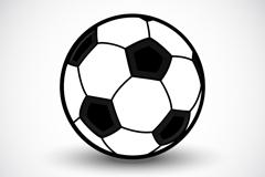 精致黑白足球矢量素材