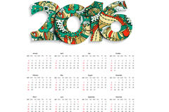 时尚2016年历设计矢量图