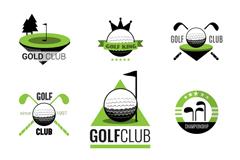 9款精致高尔夫俱乐部标志矢量图