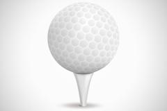 精致白色高尔夫球矢量图
