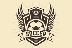 复古足球俱乐部标志矢量素材