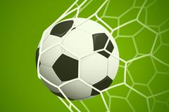 动感进网足球矢量素材