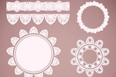 11款白色蕾丝花边矢量素材