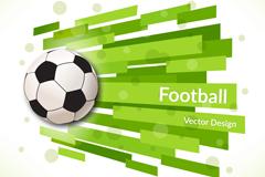创意足球背景设计矢量图