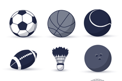 9款球类图标矢量素材
