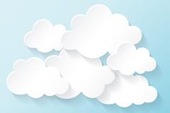创意白色云朵矢量素材