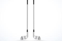 银色高尔夫球杆矢量素材