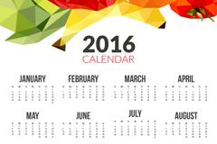 2016年水果年历矢量素材