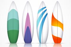 4个精美冲浪板矢量素材