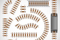12款铁路轨道设计矢量素材
