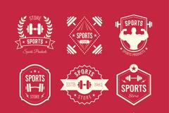 9款体育用品专卖店标签矢量图