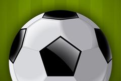 精美黑白足球矢量图