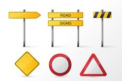 9款空白交通警示牌矢量图