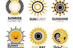 6款创意太阳标志矢量图