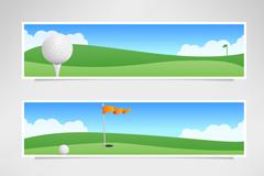 3款高尔夫球场banner矢量素材