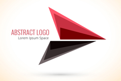 时尚三角形标志矢量图