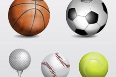 5款球类设计矢量素材