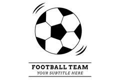 动感足球队标志矢量图