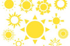 15款黄色太阳矢量素材