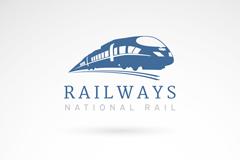 创意火车铁路标志矢量素材