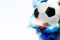 时尚光效足球背景矢量素材