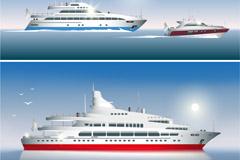 3款精美海上轮船矢量素材