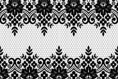 黑色对称花纹背景矢量素材