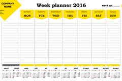 2016计划表年历矢量素材