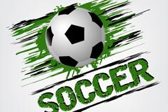 创意动感足球矢量图