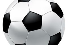 精美黑白足球矢量素材