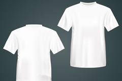 白色T恤正反面矢量素材