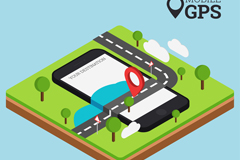 创意手机gps插画矢量素材