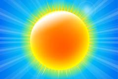 灿烂黄色太阳设计矢量素材
