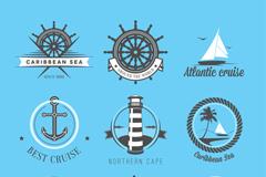 9款创意航海标志矢量图