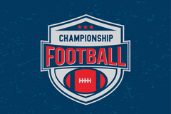 美式橄榄球标志矢量图