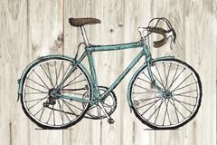 彩绘自行车海报矢量素材