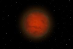 太空中的火星矢量素材