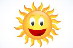 快乐太阳设计矢量素材